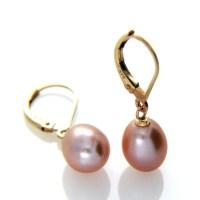 Pearl Leverback Earring Lavender Pearl Drop Earring