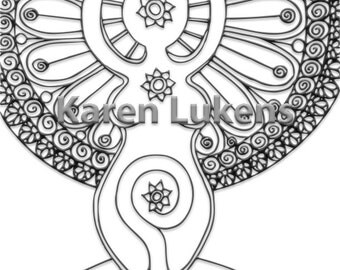 Patience 1 Adult Coloring Book Page Printable Instant