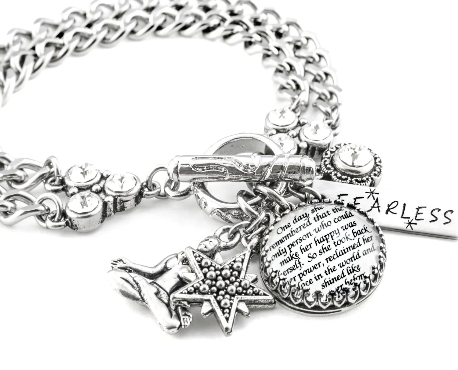 Silver Inspirational Jewelry Power Quote By Blackberrydesigns