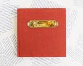 Rusty Red Linen Journal w...
