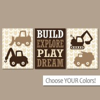 CONSTRUCTION Wall Art CANVAS or Prints Dump Truck Pictures