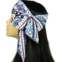 70's Headscaf Boho Summer Head Scarves Skinny Hair Scarves