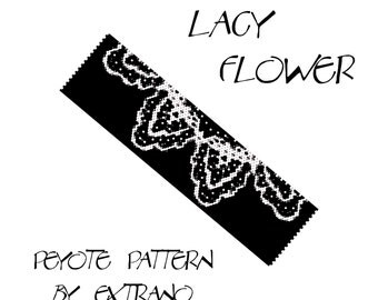 Peyote Bracelet Patterns by Extrano OpArt RUFFLES 2 colors