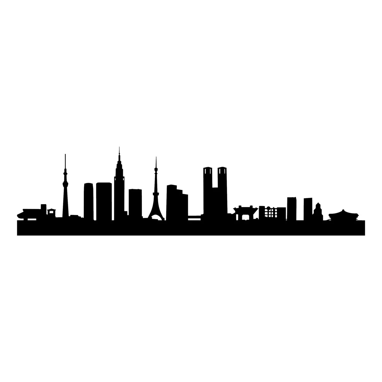 Tokyo Capital City Skyline Silhouette landmarks skyscrapers