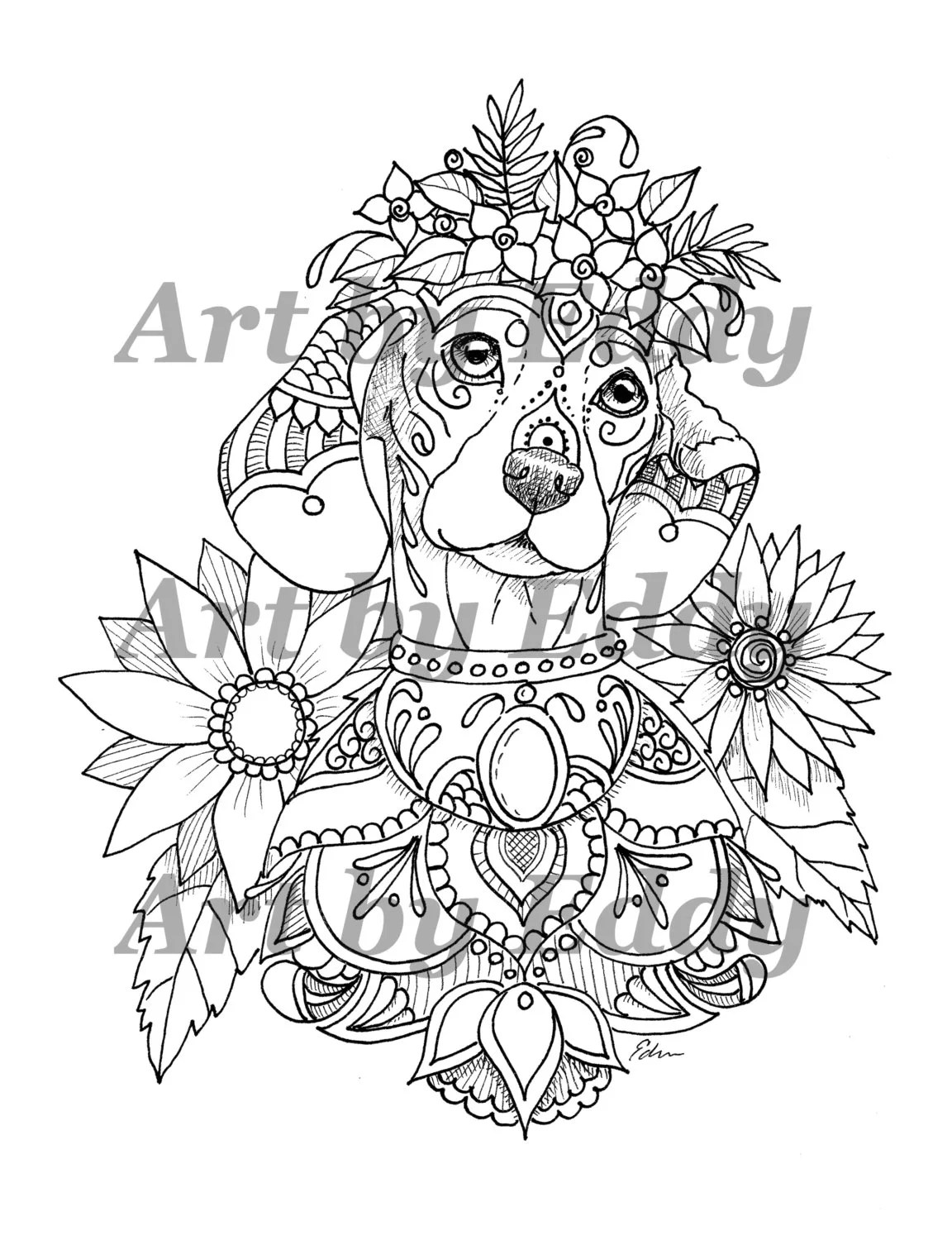 This Coloring Page Consists Of 1 Hand Drawn Image Of A