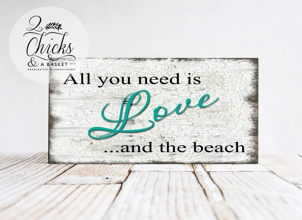 Download All You Need Is Love And The Beach Sign Vintage Wedding Sign