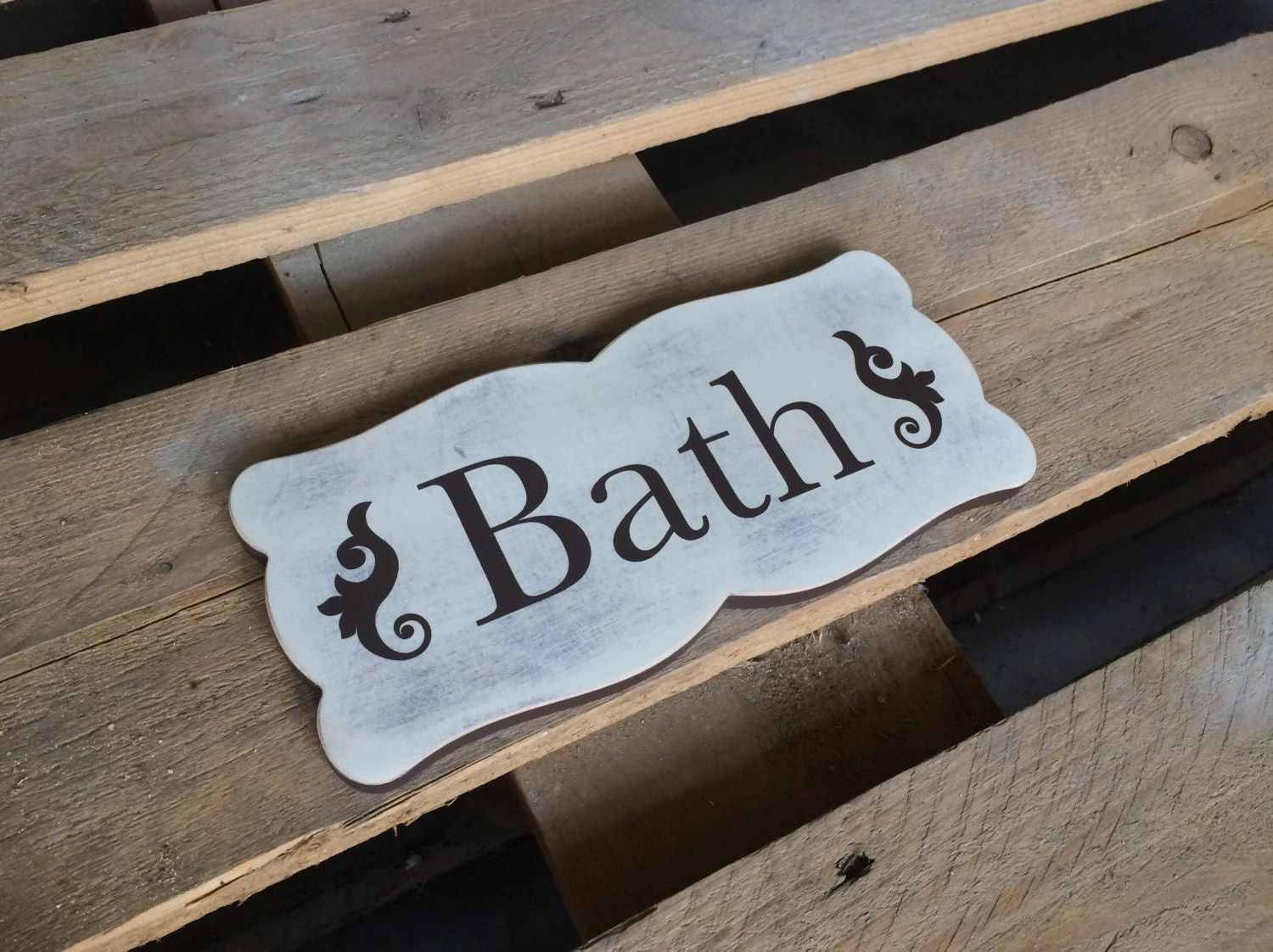 Cottage Bath Sign Bath wall decor Bathroom Wall Art Rustic