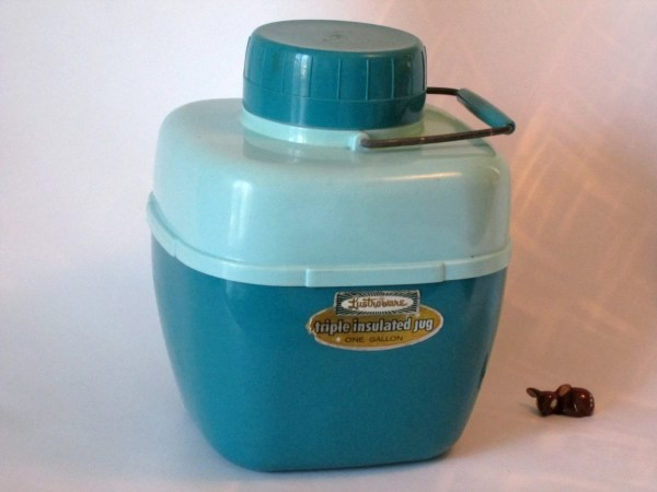 Lustro Ware Triple Insulated Gallon Jug. Turquoise Blue
