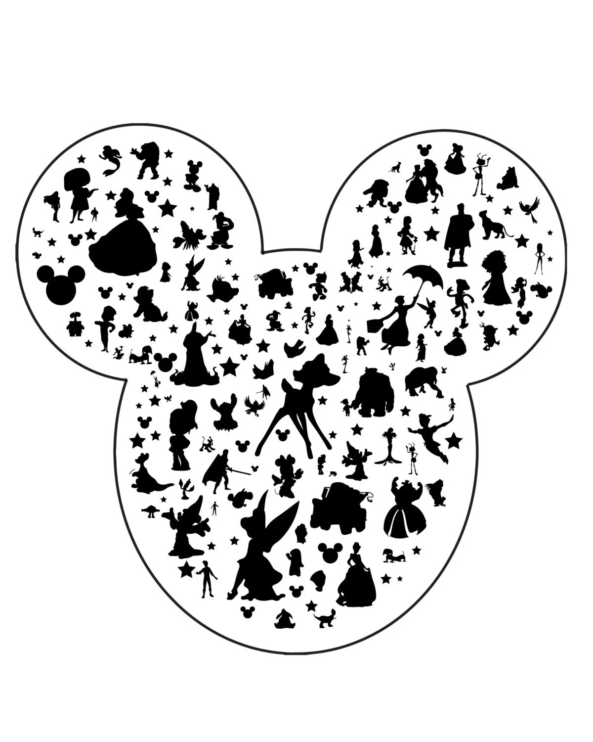 Mickey Ears Silhouette Downloadable