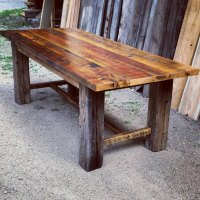 Reclaimed Barnwood Trestle Dining Table by EchoPeakDesign ...