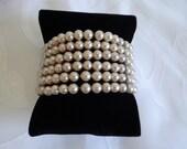 Vintage Faux Pearl Wrap A...