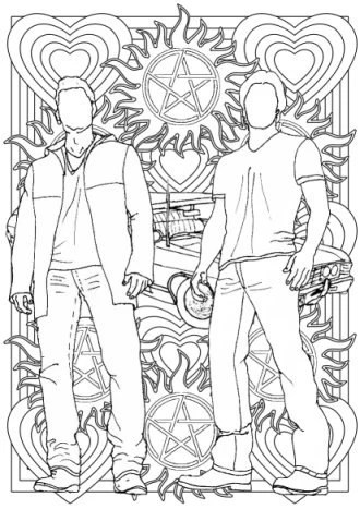 Supernatural Dean And Sam Coloring Pages Pictures to Pin