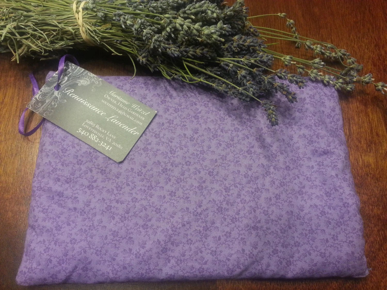 Lavender scented heated Warming Pillow heating pad for stress