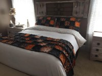 University of Tennessee Fabric Queen Rag Quilt Bed Scarf