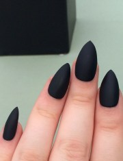 matte black nails stiletto