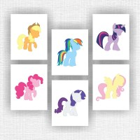 My little pony Wall Art Set of 6 8x10 instant by ...