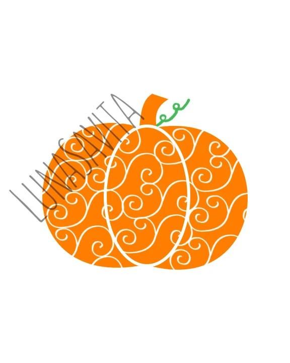 Download Pumpkin Swirl SVG DXF Files for Cricut Design Space