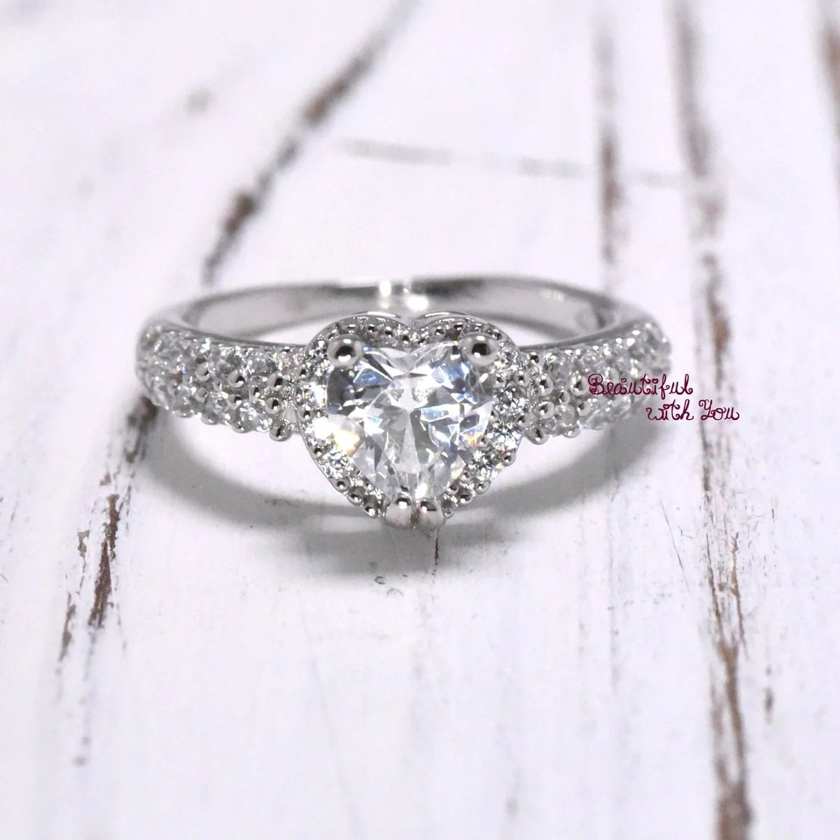 Unique Engagement Ring Womens Wedding Band by BeautifulWithYou