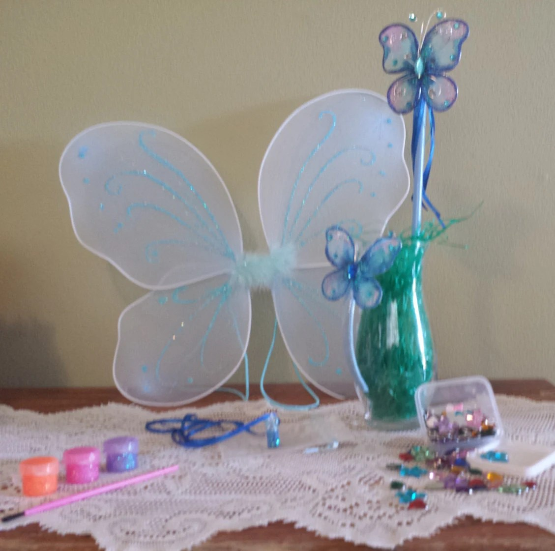 I'm A Fairy Craft Kit Blue Wings Wand Pixie Dust