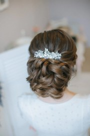 bridal head piece hair