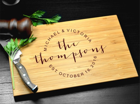 Custom Cutting Board-Engraved Cutting Board, Personalized Cutting Board, Wedding Gift, Housewarming Gift, Anniversary Gift, Christmas Gift