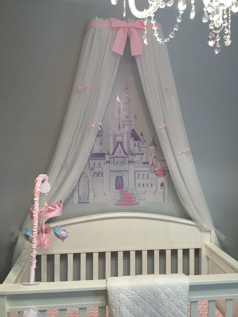Crib Canopy Crown Princess Bed Light Pink By Sozoeyboutique