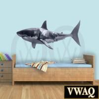 Great White Shark Wall Decal Shark Wall Decor Realistic Shark