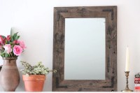 Reclaimed Wood Mirror 18x24 Bathroom Mirror Wood Mirror