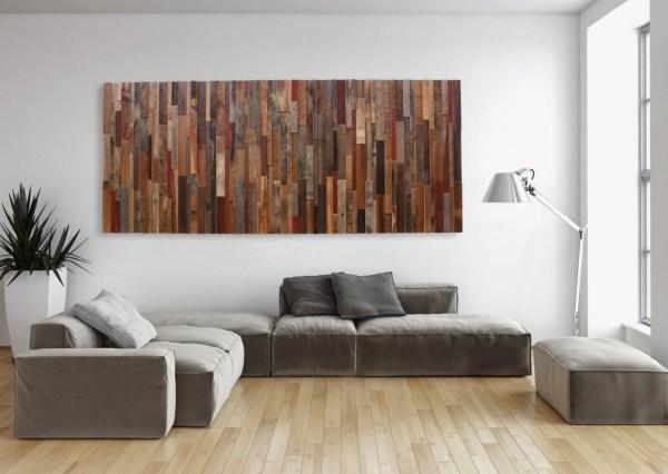 Large Wood Wall Art Of Reclaimed Barnwood