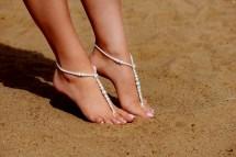 Barefoot Sandals Beaded Beach Wedding
