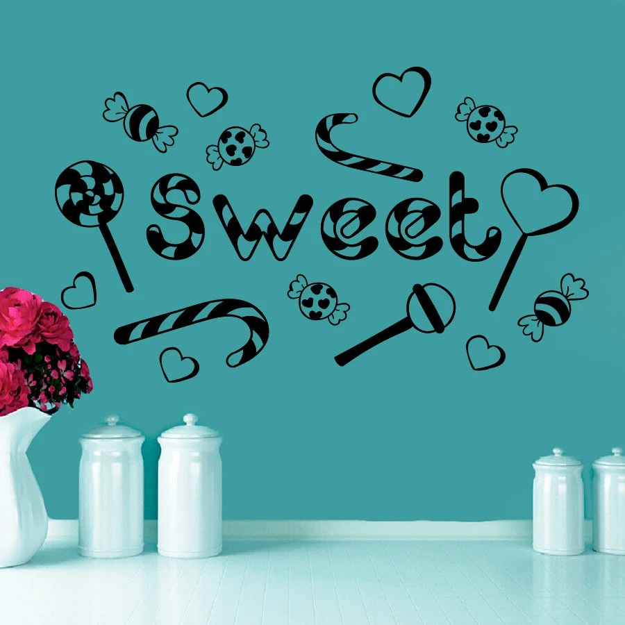 Wall Decals Candy Sweet Lollipop Decal Bakery Shop by