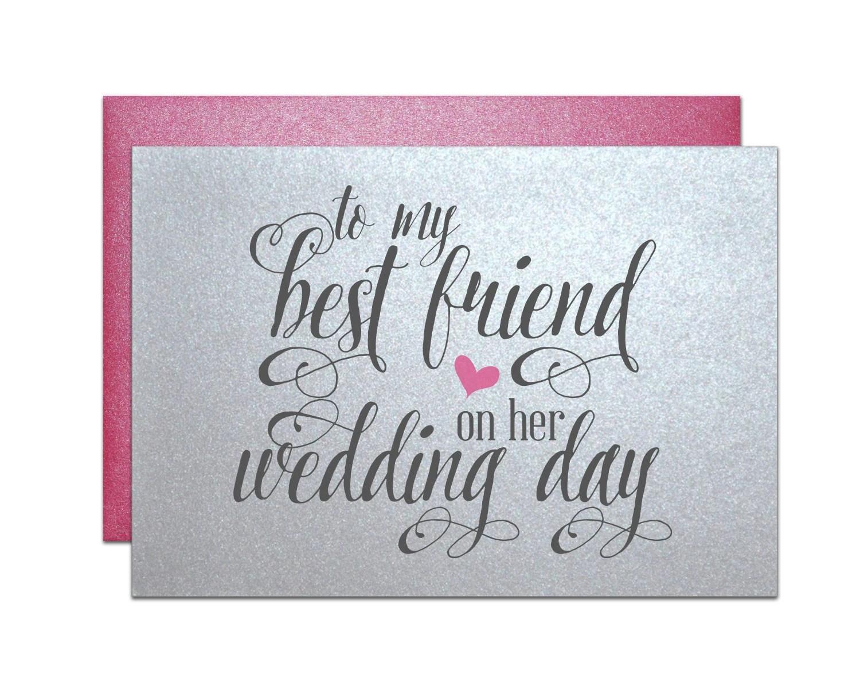 Wedding Gift Card For Best Friend Wedding Bridal By