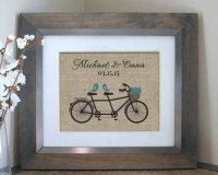Unique Wedding Gift Engagement Gift Wall Art by EmmaAndTheBean