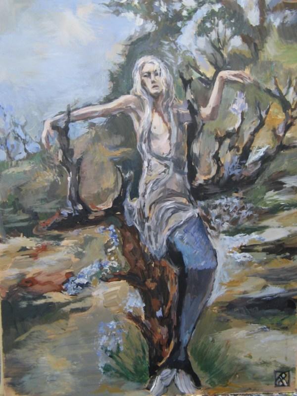 Merman Original Painting Mermaid Art Celtic