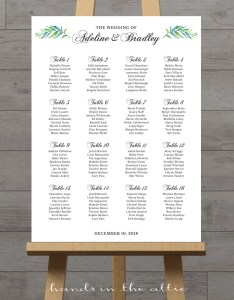 Il xn also wedding ceremony seating chart large portrait elegant sign rh catchmyparty