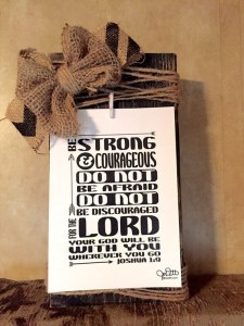 Be Strong - Joshua 1:9 Scripture art by JoDitt Designs