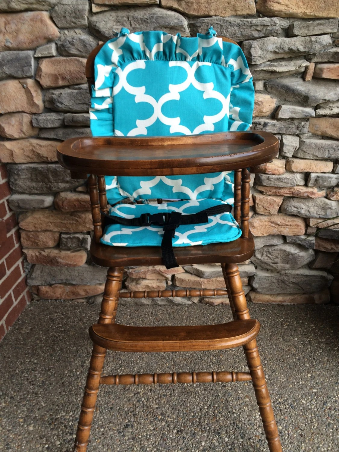 padded high chair fishing with shade cover pad cushion wooden