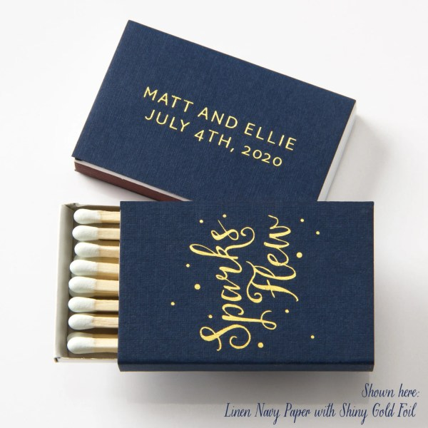 Sparks Flew Matchboxes Wedding Favors Matches