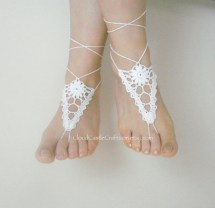 Barefoot Sandals Crochet Bare Foot Beach Wear