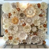 Paper Flower Wall custom and handmade to order. IDGED1001