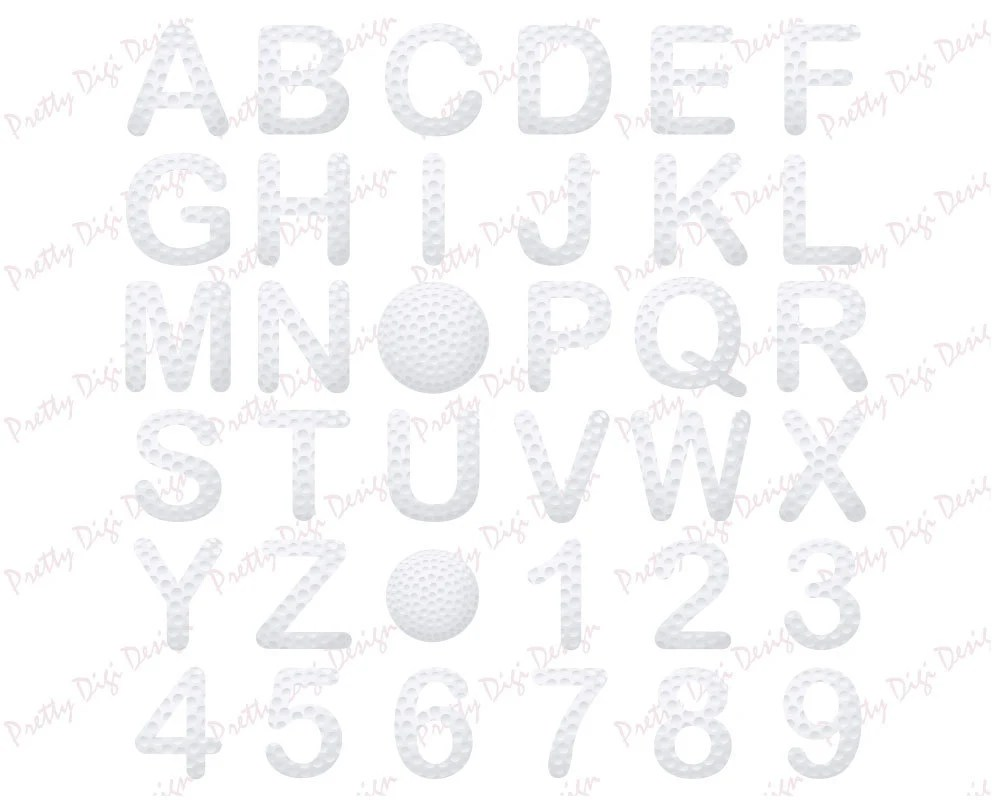 Golf letters and numbers, Golf clip art, Golf