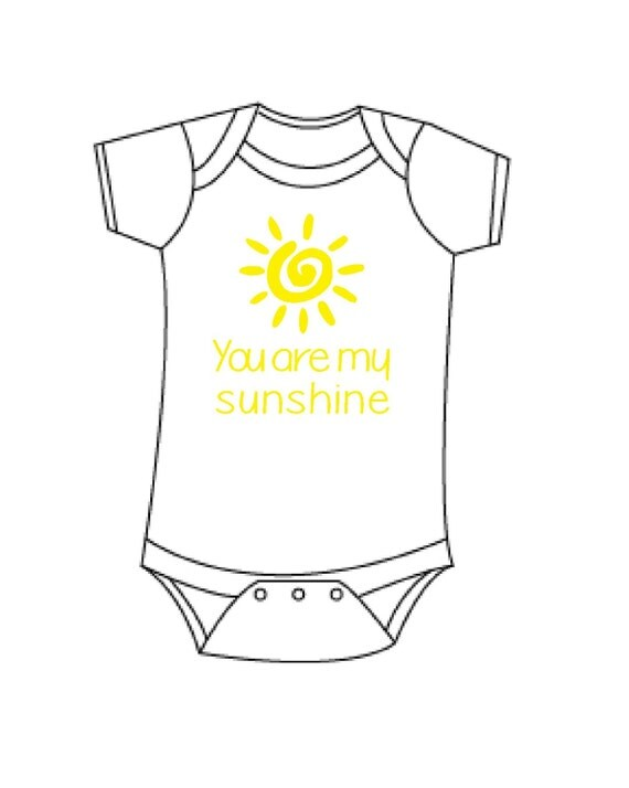 Items similar to You are my sunshine bodysuit, summer