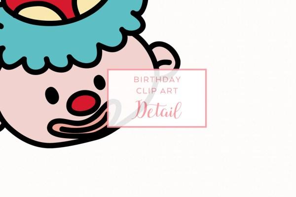 Clip Art Birthday Overlay Hand-drawn Cake