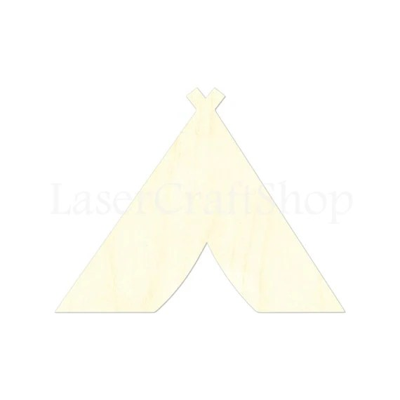 Items similar to 2quot 34quot Camping Tent Wooden Cutout Shape
