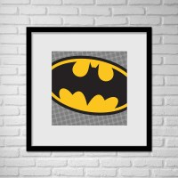 Superhero Batman Pop Art Wall Art / Batman Logo Pop Art