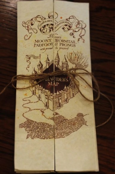 Marauders Map - Harry Potter inspired replica