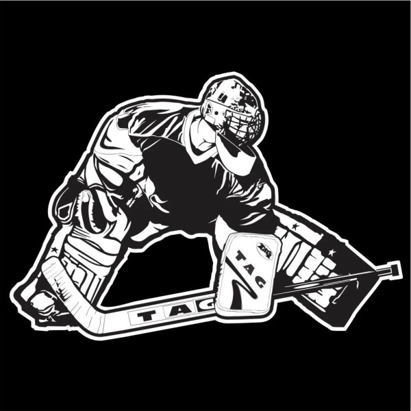 Hockey Goalie Car Window Decal Hockey Car Sticker Hockey