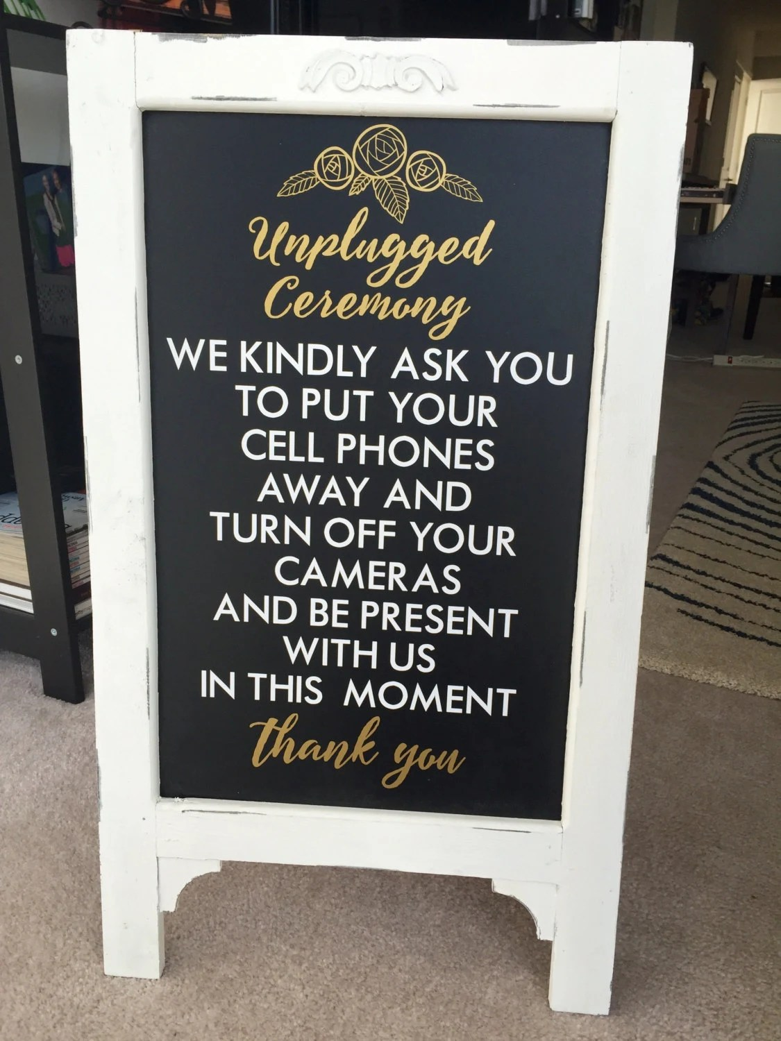 Wedding Unplugged Ceremony Sayings Custom Wall Decor Words