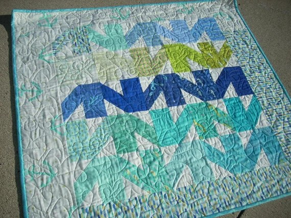 into the deep baby quilt - FREE SHIPPING
