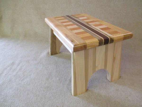Handcrafted Solid Wood Step Stool Mywoodworkersshop